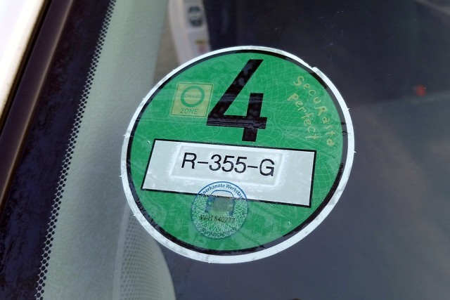 German Emissions Sticker