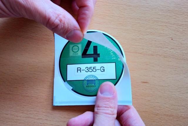 Affix sticker 1